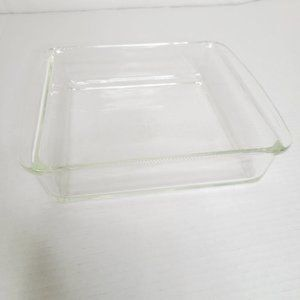 Vintage Pyrex Square Clear Glass Baking Dish